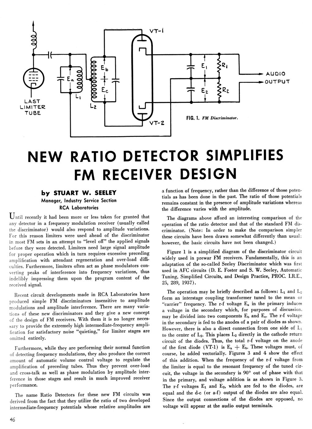 Ratio Detector Simplifies FM Receiver Design, page 1