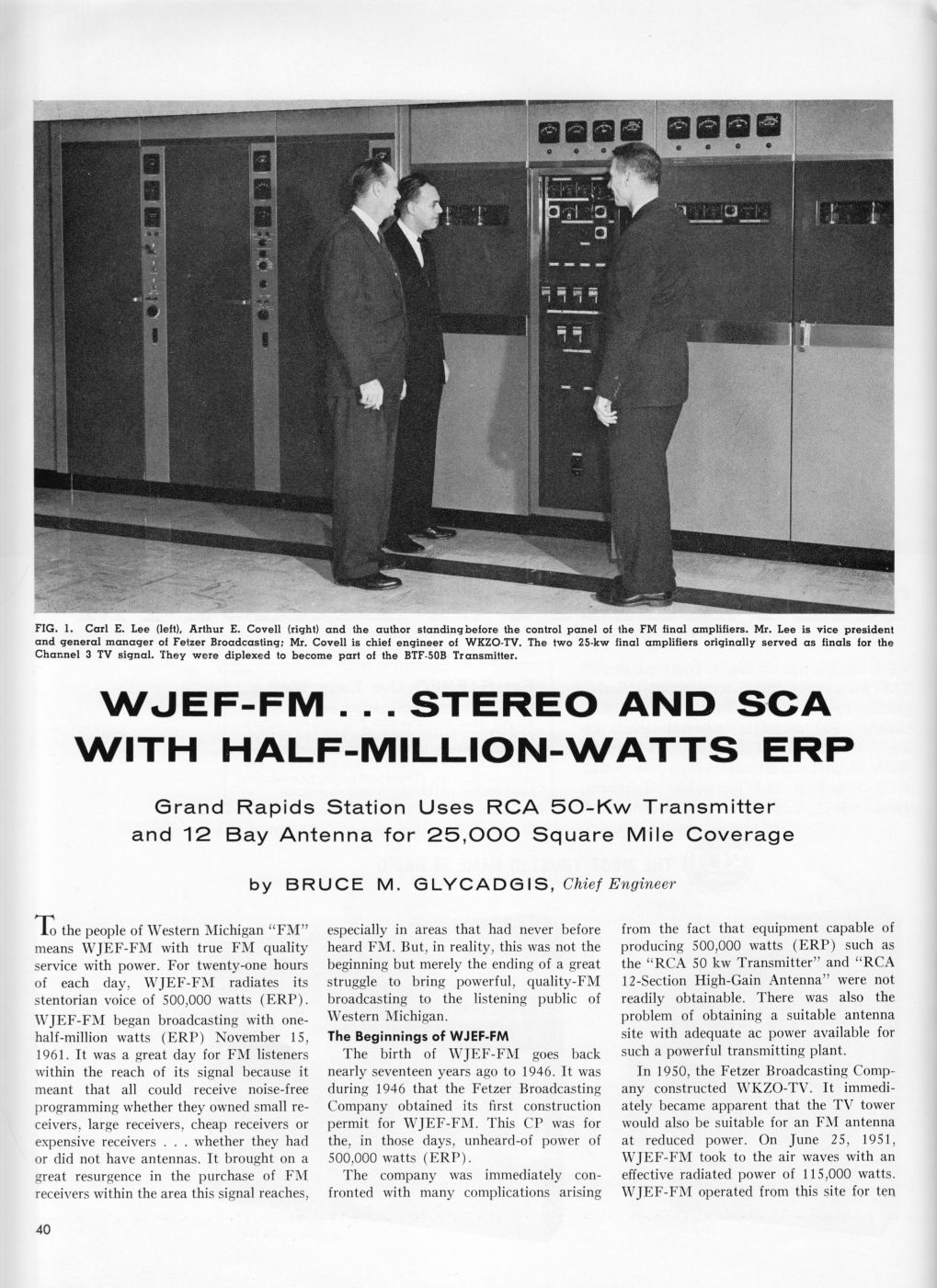 WJEF-FM...Stereo Half-Million-Watts, page 1