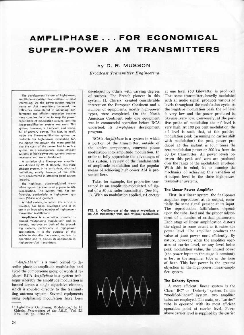 Ampliphase ... For Economical Super-Power AM Transmitters, page 1
